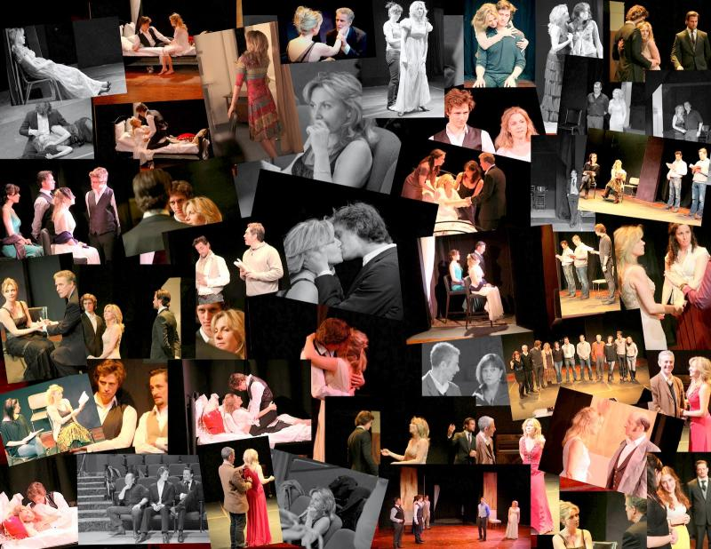 Collage of photos from La Dame aux Camelias